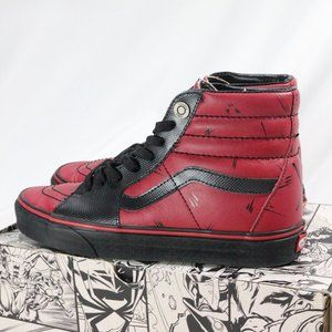 VANS Marvel x SK8-Hi 'Deadpool' Sneakers NIB